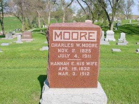 MOORE, HANNAH E. - Ida County, Iowa   HANNAH E. MOORE