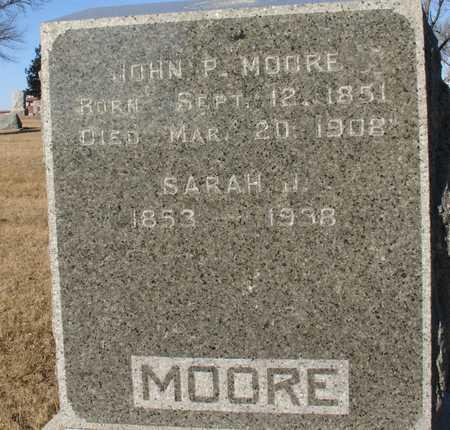 MOORE, JOHN P. & SARAH J. - Ida County, Iowa | JOHN P. & SARAH J. MOORE
