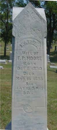 MOORE, KATIE M. - Ida County, Iowa   KATIE M. MOORE