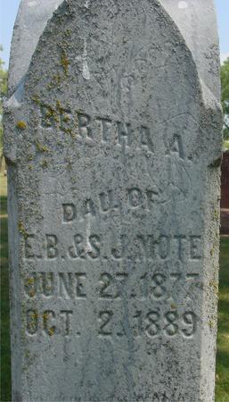 MOTE, BERTHA A. - Ida County, Iowa | BERTHA A. MOTE