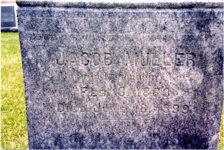 MULLER, JACOB - Ida County, Iowa   JACOB MULLER