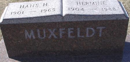 MUXFELDT, HANS & HERMINE - Ida County, Iowa   HANS & HERMINE MUXFELDT