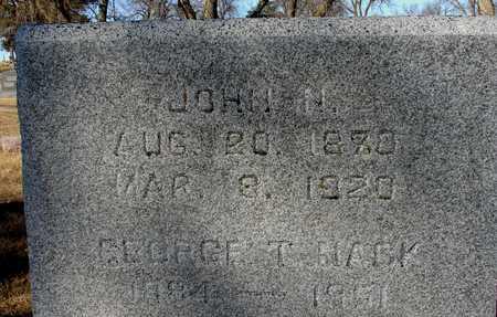 NACK, JOHN N. & GEORGE - Ida County, Iowa | JOHN N. & GEORGE NACK