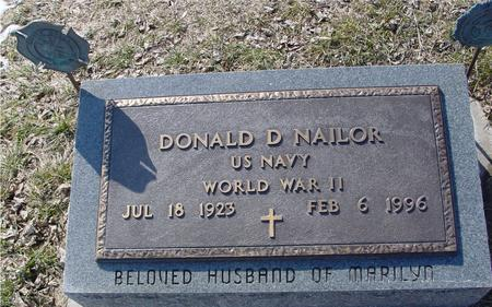NAILOR, DONALD D. - Ida County, Iowa | DONALD D. NAILOR