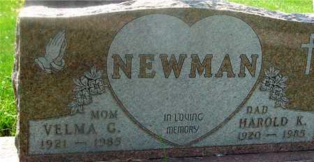 NEWMAN, HAROLD & VELMA - Ida County, Iowa   HAROLD & VELMA NEWMAN