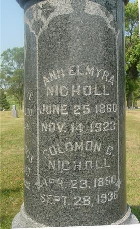 NICHOLL, SOLOMON & ANN - Ida County, Iowa   SOLOMON & ANN NICHOLL
