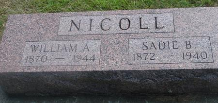 NICOLL, WILLIAM & SADIE - Ida County, Iowa | WILLIAM & SADIE NICOLL