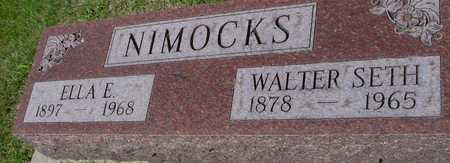NIMOCKS, WALTER SETH & ELLA - Ida County, Iowa | WALTER SETH & ELLA NIMOCKS