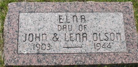 OLSON, ELNA - Ida County, Iowa   ELNA OLSON