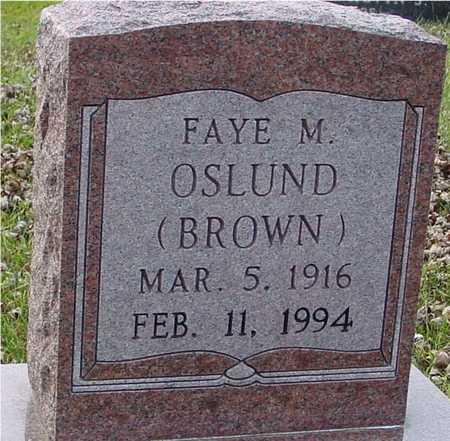 BROWN OSLUND, FAYE - Ida County, Iowa | FAYE BROWN OSLUND