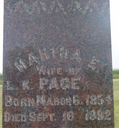 PAGE, MARTHA E. - Ida County, Iowa | MARTHA E. PAGE