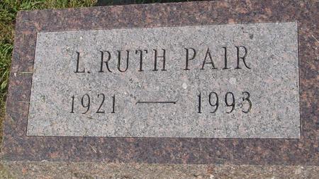 PAIR, L. RUTH - Ida County, Iowa | L. RUTH PAIR