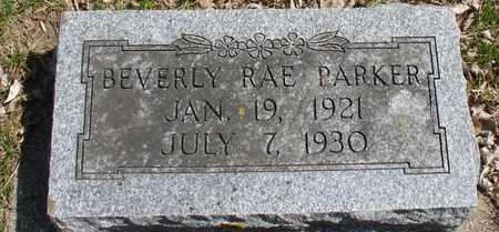 PARKER,  BEVERLY RAE - Ida County, Iowa |  BEVERLY RAE PARKER