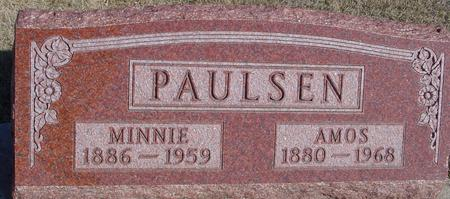 PAULSEN, AMOS & MINNIE - Ida County, Iowa | AMOS & MINNIE PAULSEN