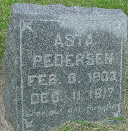 PEDERSEN, ASTA - Ida County, Iowa   ASTA PEDERSEN