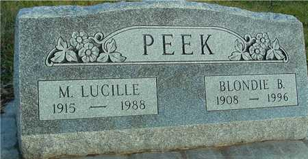 PEEK, BLONDIE & LUCILLE - Ida County, Iowa | BLONDIE & LUCILLE PEEK