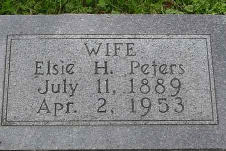 PETERS, ELSIE H. - Ida County, Iowa   ELSIE H. PETERS