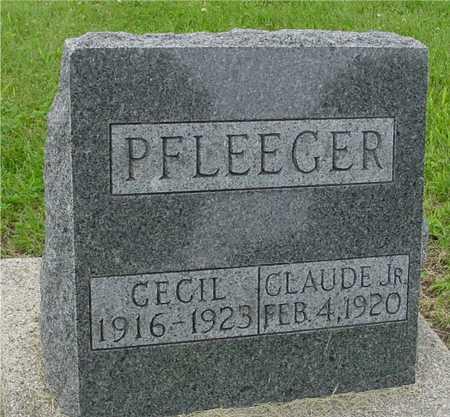 PFLEEGER, CLAUDE JR. & CECIL - Ida County, Iowa | CLAUDE JR. & CECIL PFLEEGER