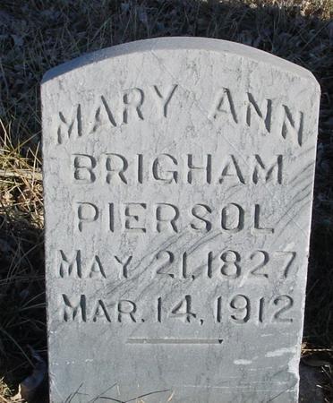 BRIGHAM PIERSOL, MARY ANN - Ida County, Iowa | MARY ANN BRIGHAM PIERSOL