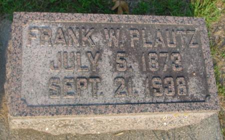 PLAUTZ, FRANK W. & AUGUSTA - Ida County, Iowa   FRANK W. & AUGUSTA PLAUTZ