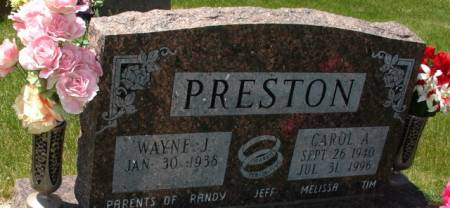 PRESTON, CAROL A. - Ida County, Iowa   CAROL A. PRESTON