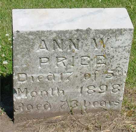 PRICE, ANN W. - Ida County, Iowa   ANN W. PRICE