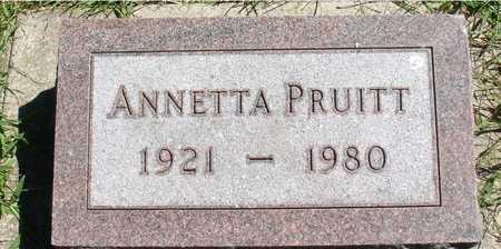 PRUITT, ANNETTA - Ida County, Iowa | ANNETTA PRUITT