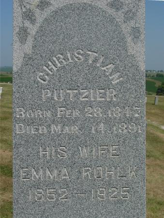 PUTZIER, CHRISTIAN & EMMA - Ida County, Iowa | CHRISTIAN & EMMA PUTZIER