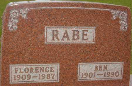 RABE, BEN & FLORENCE - Ida County, Iowa   BEN & FLORENCE RABE