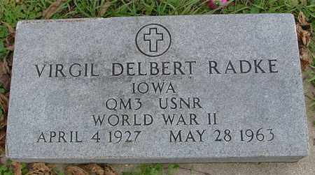 RADKE, VIRGIL DELBERT - Ida County, Iowa   VIRGIL DELBERT RADKE