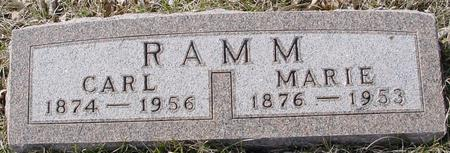 RAMM, CARL & MARIE - Ida County, Iowa | CARL & MARIE RAMM
