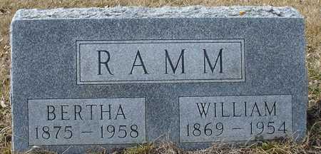 RAMM, WILLIAM & BERTHA - Ida County, Iowa | WILLIAM & BERTHA RAMM