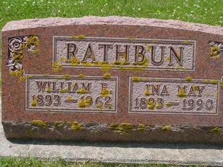 RATHBUN, INA MAY - Ida County, Iowa   INA MAY RATHBUN