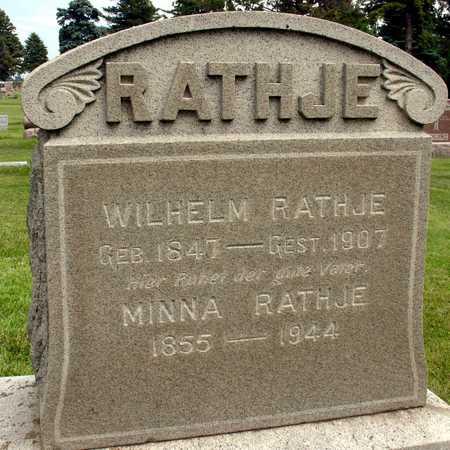 RATHJE, WILHELM & MINNA - Ida County, Iowa   WILHELM & MINNA RATHJE
