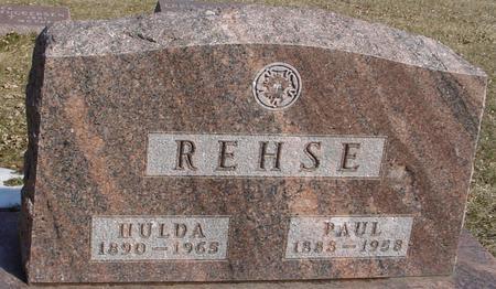 REHSE, PAUL & HULDA - Ida County, Iowa | PAUL & HULDA REHSE