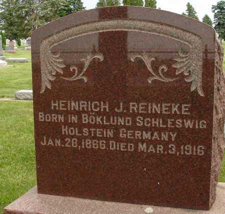 REINEKE, HEINRICH J. - Ida County, Iowa | HEINRICH J. REINEKE