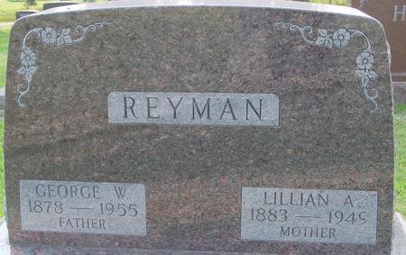REYMAN, GEORGE W. - Ida County, Iowa   GEORGE W. REYMAN