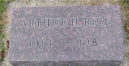 RICE, ARTHUR - Ida County, Iowa   ARTHUR RICE