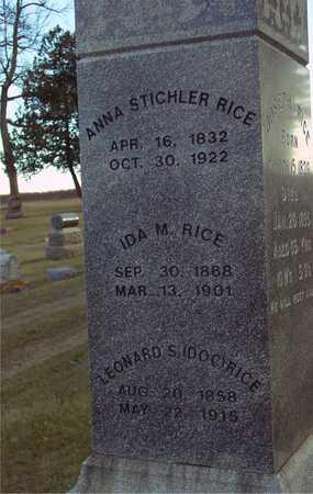 RICE, ANNA & IDA M. - Ida County, Iowa   ANNA & IDA M. RICE