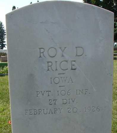 RICE, ROY D. - Ida County, Iowa | ROY D. RICE