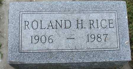 RICE, ROLAND H. - Ida County, Iowa | ROLAND H. RICE