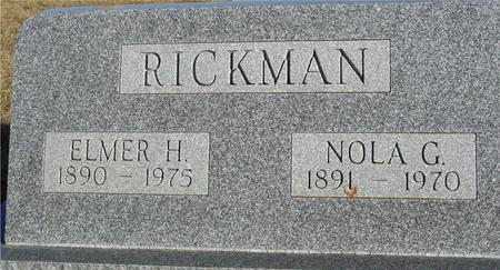 RICKMAN, ELMER & NOLA - Ida County, Iowa | ELMER & NOLA RICKMAN
