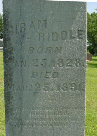 RIDDLE, HIRAM - Ida County, Iowa | HIRAM RIDDLE