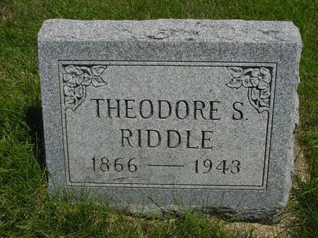 RIDDLE, THEODORE - Ida County, Iowa | THEODORE RIDDLE