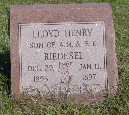RIEDESEL, LLOYD HENRY - Ida County, Iowa | LLOYD HENRY RIEDESEL