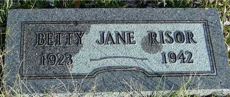 RISOR, BETTY JANE - Ida County, Iowa   BETTY JANE RISOR