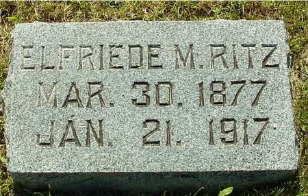 RITZ, ELFRIEDE M. - Ida County, Iowa   ELFRIEDE M. RITZ