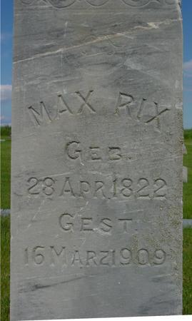 RIX, MAX - Ida County, Iowa | MAX RIX