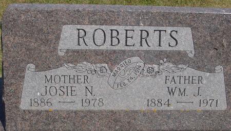 ROBERTS, WILLIAM & JOSIE - Ida County, Iowa | WILLIAM & JOSIE ROBERTS