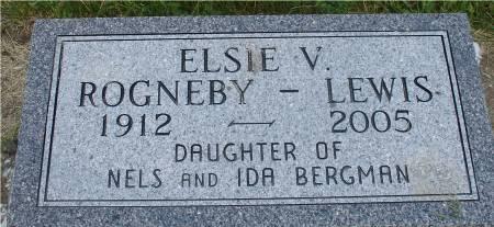 ROGNEBY-LEWIS, ELSIE V. - Ida County, Iowa   ELSIE V. ROGNEBY-LEWIS
